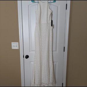 LuLus Ephemeral Allure Ivory Lace Dress size small